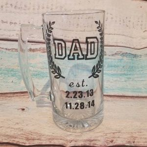 Father's Day Personalized Custom Beer Glass